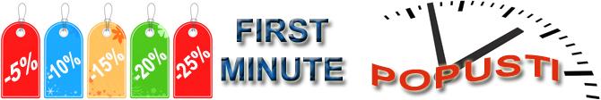 first minute popusti 1